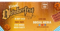 Oktoberfest Event Template Couverture d'événement Facebook