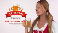 Oktoberfest Event Video Beer Drinking Dirndl
