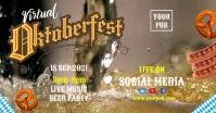 Oktoberfest event Video Template Couverture d'événement Facebook