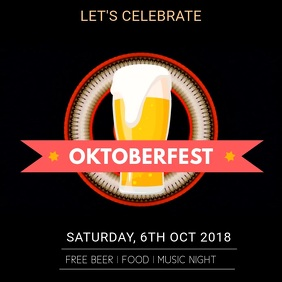 Oktoberfest Event Video Template Quadrato (1:1)