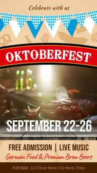 Oktoberfest Festival Digital Signage Template Digitale display (9:16)