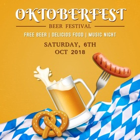 Oktoberfest Festival Video Template Quadrato (1:1)