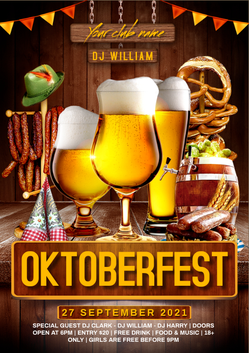Oktoberfest flyer A4 template
