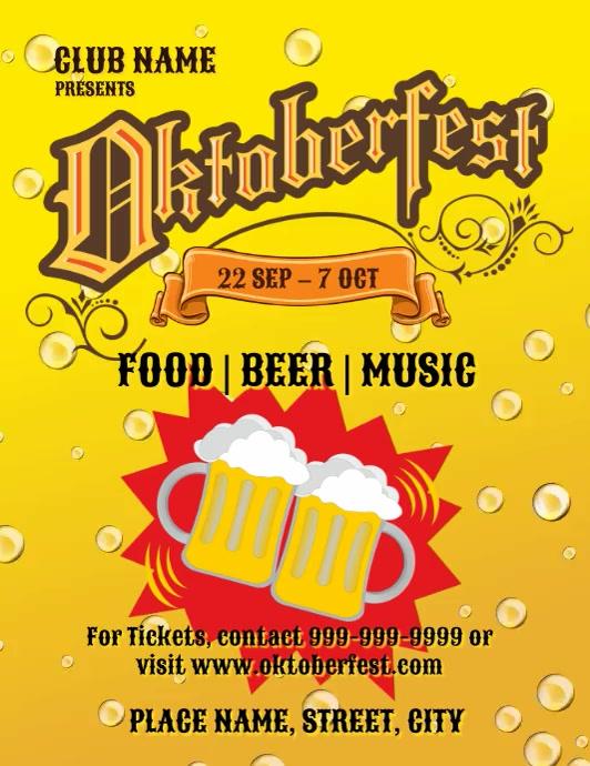 Oktoberfest flyer Pamflet (VSA Brief) template