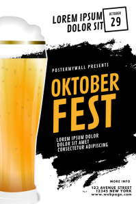 Oktoberfest Flyer Design Template Plakat