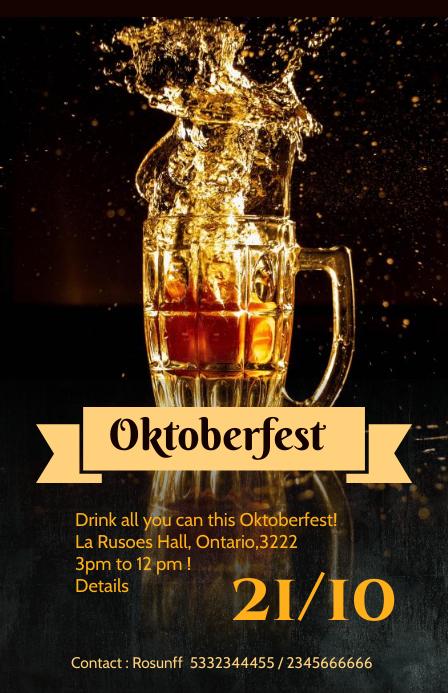 Oktoberfest flyer Tabloid template