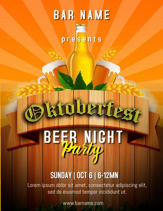Oktoberfest Flyer ใบปลิว (US Letter) template