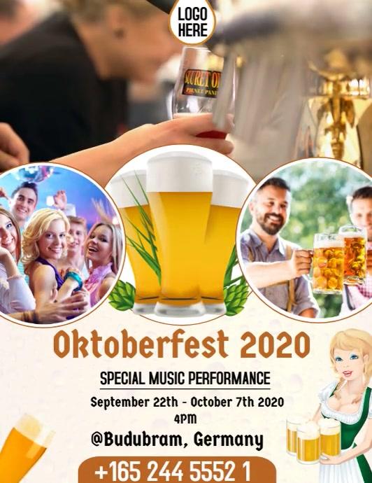 Oktoberfest Flyer Template ใบปลิว (US Letter)