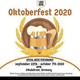 Oktoberfest Flyer Template Square (1:1)