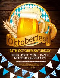 oktoberfest flyers, bar flyers template