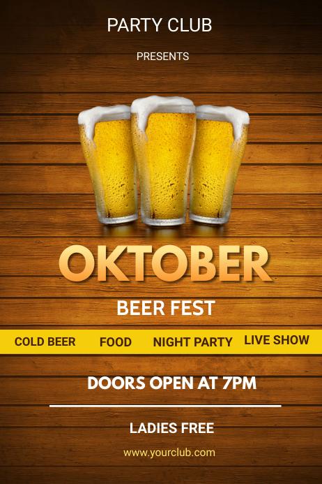 oktoberfest flyers Plakat template