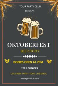 oktoberfest flyers Poster template