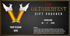 Oktoberfest gift voucher template