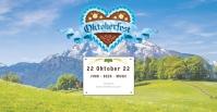 Oktoberfest Header Banner Event Promo Advert template