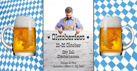 Oktoberfest header Video advert event cover Facebook-gebeurtenisomslag template