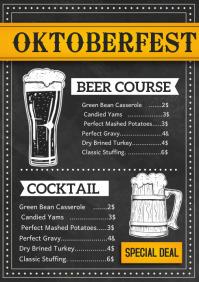 Oktoberfest menu A4 template