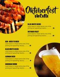 Oktoberfest menu Poster/Wallboard template