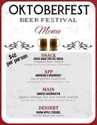 Oktoberfest Menu flyer template 传单(美国信函)