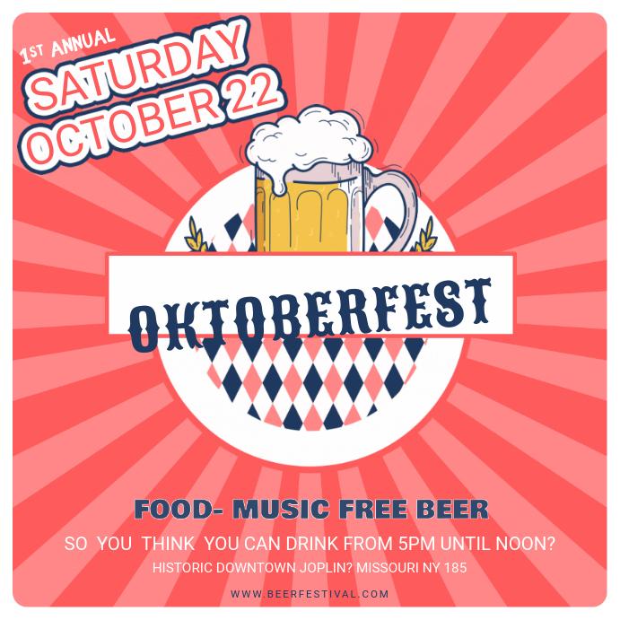 Oktoberfest Music Event Instagram Post Template