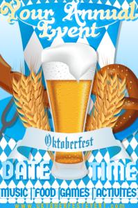 Oktoberfest October Fest Beer Drinking Bar Party Blue White