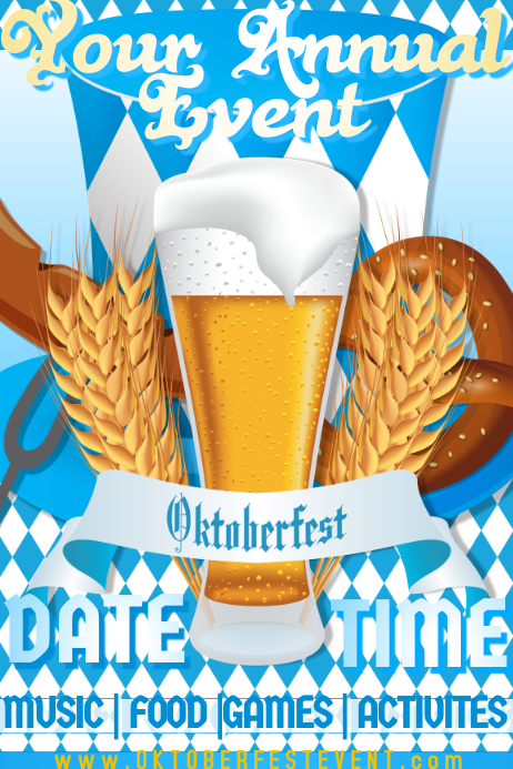 oktoberfest october fest beer drinking bar party blue