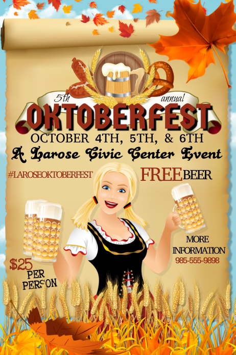 Oktoberfest October Festival Beer Drinking Bar Party German