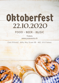 Oktoberfest October festival Beer Garden ad