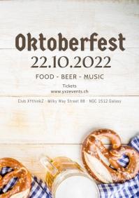 Oktoberfest October festival Beer Garden ad A4 template