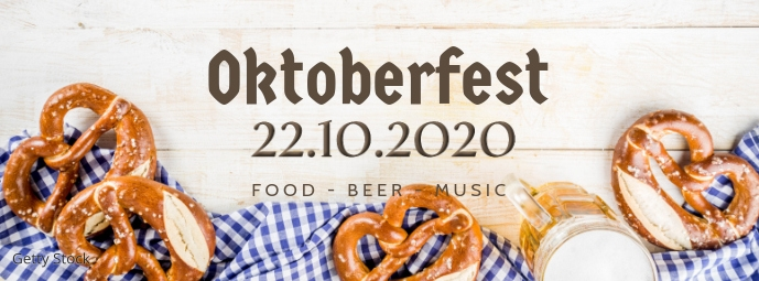 Oktoberfest October festival Beer Garden ad Facebook-coverfoto template