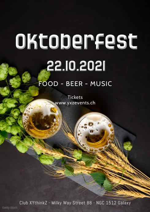 Oktoberfest october german party beer event A4 template
