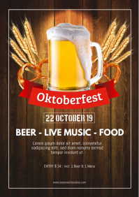 Oktoberfest October Party German Beer Garden A4 template
