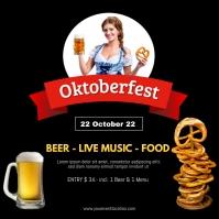 Oktoberfest October Party German Beer Garden Instagram Post template
