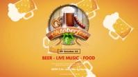 Oktoberfest October Party German Beer Garden Video copertina Facebook (16:9) template