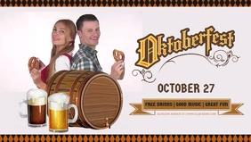 Oktoberfest Party Flyer Ikhava Yevidiyo ye-Facebook (16:9) template