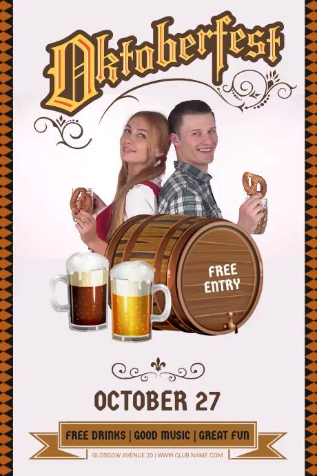 Oktoberfest Party Flyer โปสเตอร์ template