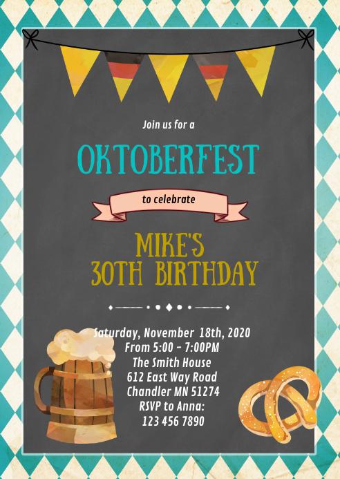 Oktoberfest party invitation