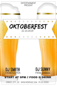 Oktoberfest party night flyer template