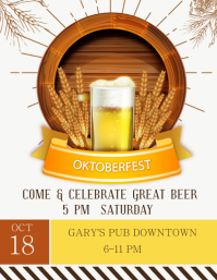 Oktoberfest Party Poster Template