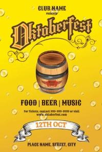 Oktoberfest Post Poster template