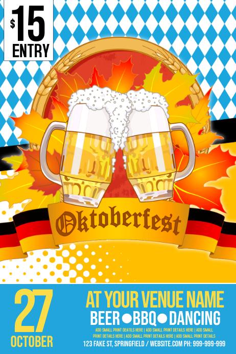 Oktoberfest Poster Cartaz template