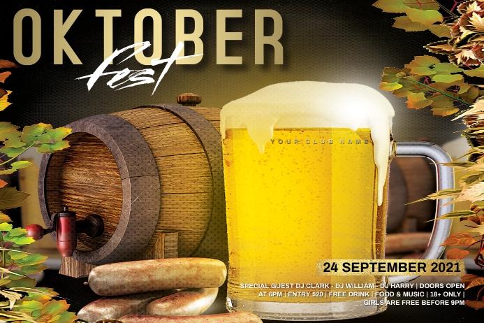 Oktoberfest poster Plakat template