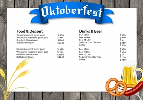 Oktoberfest Price List Party event beer ad A4 template