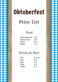 Oktoberfest Price List Party event Flyer beer