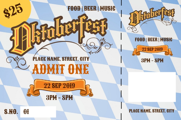 Oktoberfest tickets Tatak template