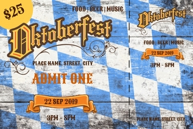 Oktoberfest tickets Etiket template