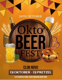 oktoberfest video, bar video Pamflet (Letter AS) template