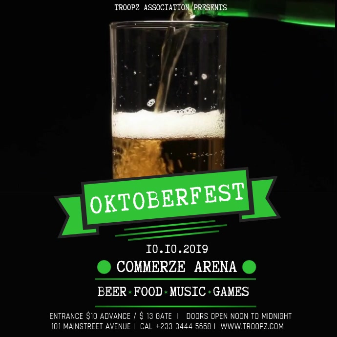 OKTOBERFEST VIDEO TEMPLATE Square (1:1)