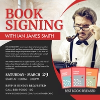 Old Book Author Signing Instagram Post Templa template