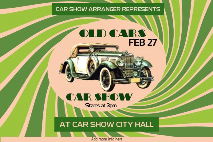 old car vintage retro car show poster template - landscape