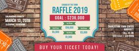Old fashioned Raffle Lottery Invitation Ticket